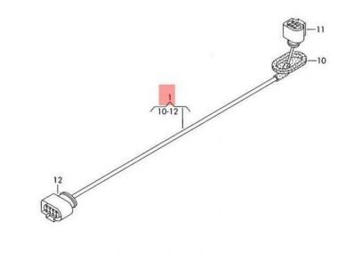 Volkswagen/Audi Adapter wiring harness Haldex Gen4 3AA971166 full loom