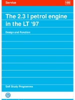 SSP 189 The 2.3 l petrol engine in the LT 1997