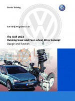 SSP 515 The Golf 2013 Running Gear and Four-wheel Drive