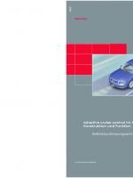 SSP 289 Adaptive cruise control im Audi A8