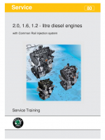 SSP 080 2.0, 1.6, 1.2 - litre diesel engines with Common Rail