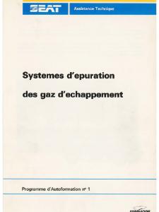 SSP 001 Systemes depuration des gaz dechappement