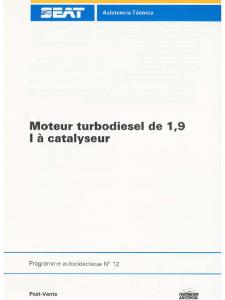 SSP 012 Moteur turbodiesel de 1.9 l à catalyseur