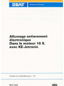 SSP 016 Allumage KE-Jetronic