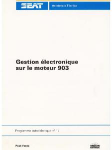 SSP 017 Gestion électronique sur le moteur 903