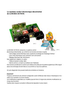 SSP 017 ŠKODA OCTAVIA Système de lélectronique confort