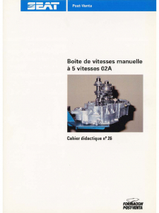 SSP 026 Boîte de vitesses manuelle à 5 vitesses 02A