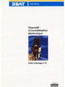 SSP 031 Dispositif dimmobilisation électronique