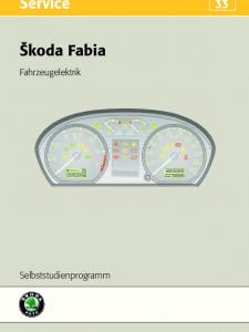 SSP 033 Skoda Fabia – Fahrzeugelektrik