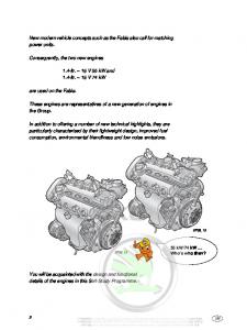 SSP 035 1,4 AUA 55kW AUB 74kW 16V Petrol engines Magneti Marelli