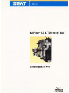 SSP 055 Moteur 1.9 L TDi de 81 KW