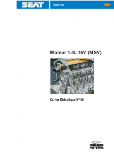 SSP 059 Moteur 1.4L 16V MSV