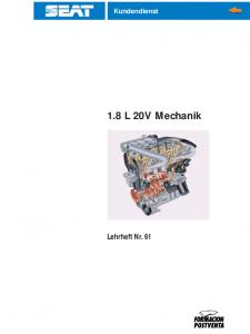 SSP 061 1,8 L 20V Mechanik