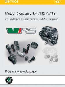 SSP 083 Moteur à essence 1,4 l 132 kW TSI avec double suralimentation compresseur, turbocompresseur