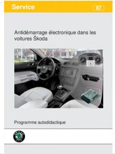 SSP 087 Antidémarrage électronique dans les voitures Škoda