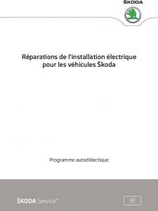 SSP 091 Réparations de linstallation électrique pour les véhicules Škoda