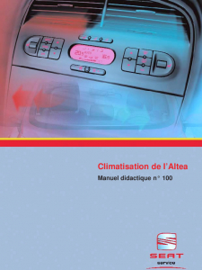 SSP 100 Climatisation de lAltea