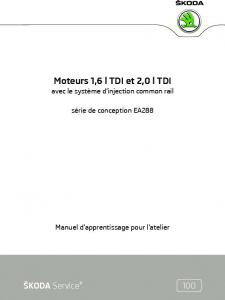 SSP 100 Moteur 1,6l et 2,0l TDi EA288