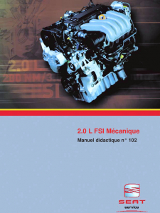 SSP 102 Moteur 2,0 L FSI Mécanique