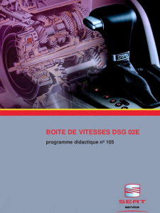 SSP 105 Boite de vitesses DSG 02E