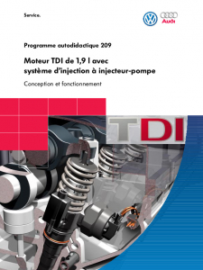 SSP 209 Moteur TDI de 1,9 l avec système d'injection à injecteur-pompe