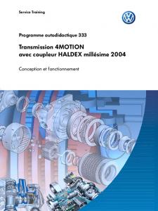 SSP 333 Transmission 4MOTION avec coupleur HALDEX millésime 2004
